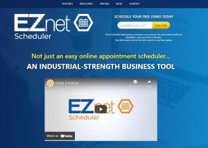 EZnet Scheduler website home page screen shot