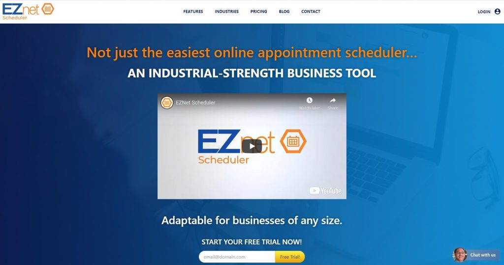 Screen Shot of EZnet Scheduler Home Page