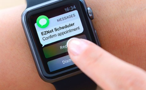 Image of EZnet Scheduler text message appointment reminder