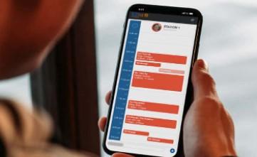 Image of EZnet Scheduler customer repair progress update via text message